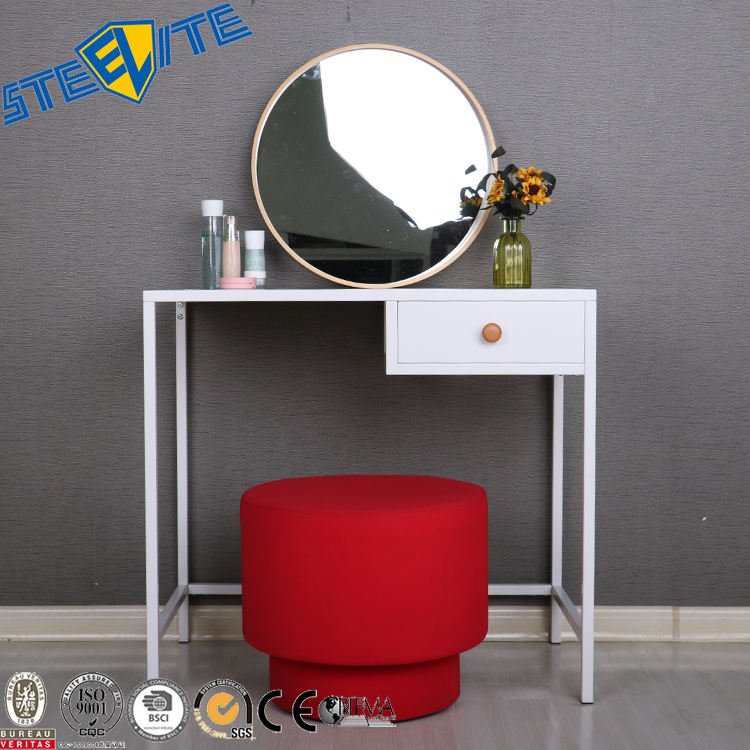 Simple Design Bedroom Used Side Table Girl Dressing Table Dresser,Metal