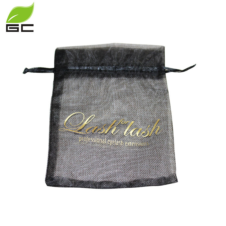 2017 Good Quality Custom Printed Wholesale Organza Bags With Logo Ribbon For New Year