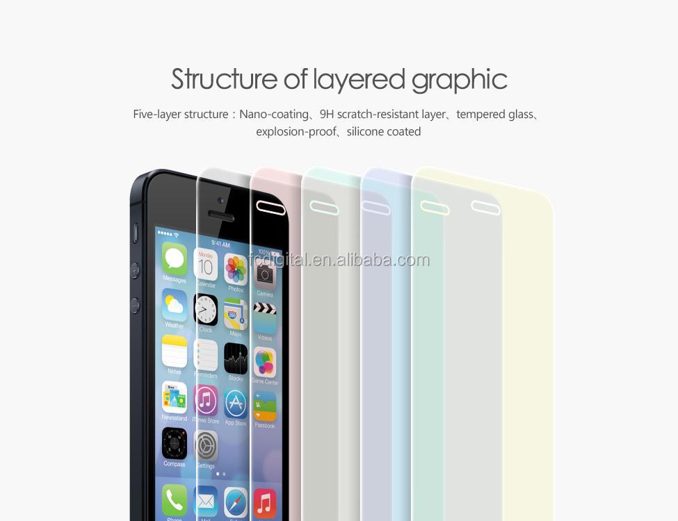 Prezzo di fabbrica premio vetro temperato protezione dello schermo per iphone 6s 5 5s temperato pellicola protettiva screensaver