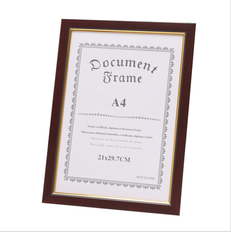 Bulk wholesale A4 PS plastic certificate picture photo frame A3 Document display frame A2 A1 poster frame bulk
