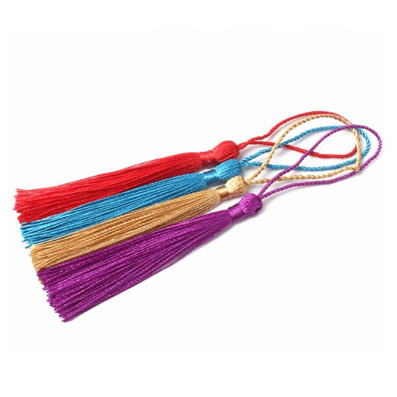 Hand-made colorful bookmarks tassel