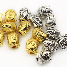 JFA1013 Hot sale Gold laughing buddha head beads,Buddhism Jewelry Beads