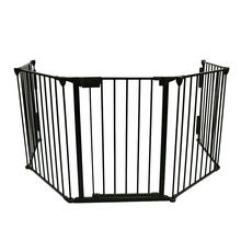 5 panels folding metal   safety barrier  pets safety gate fireplace gate guard fence baby metal playpen