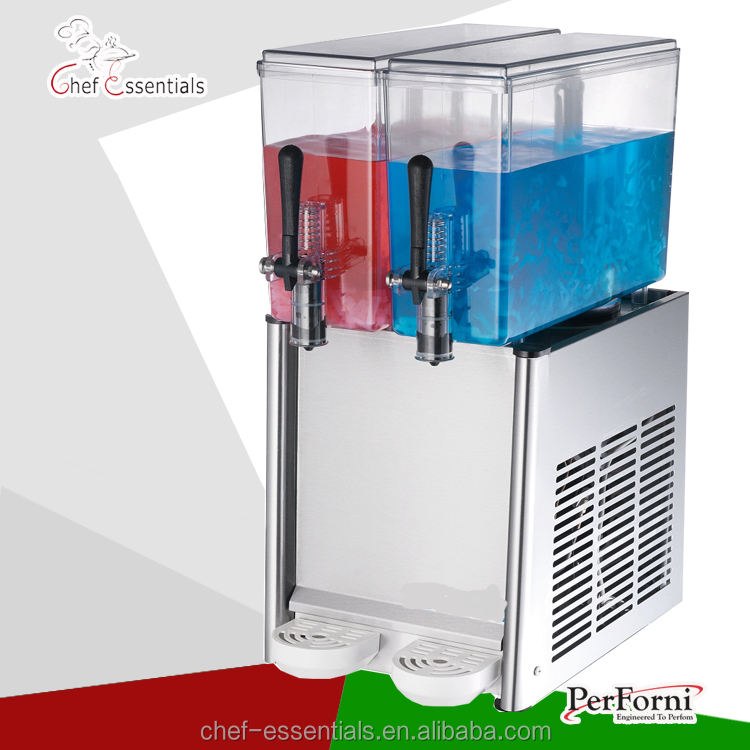 BAYSJ12X2 commercial 2 compartment soft juice/coffee/beer cold drink dispenser in hotel restaurant bar and convenience store