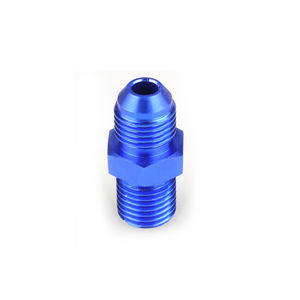 Male -8 AN 8AN fittings aluminum AN8-M18*1.5 Metric Straight Fitting Blue