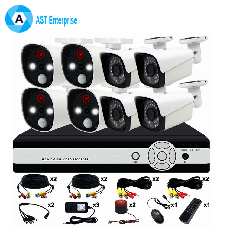 Home Security Camera System Full HD 1080 P H.264 Alarm 8ch NVR Kit