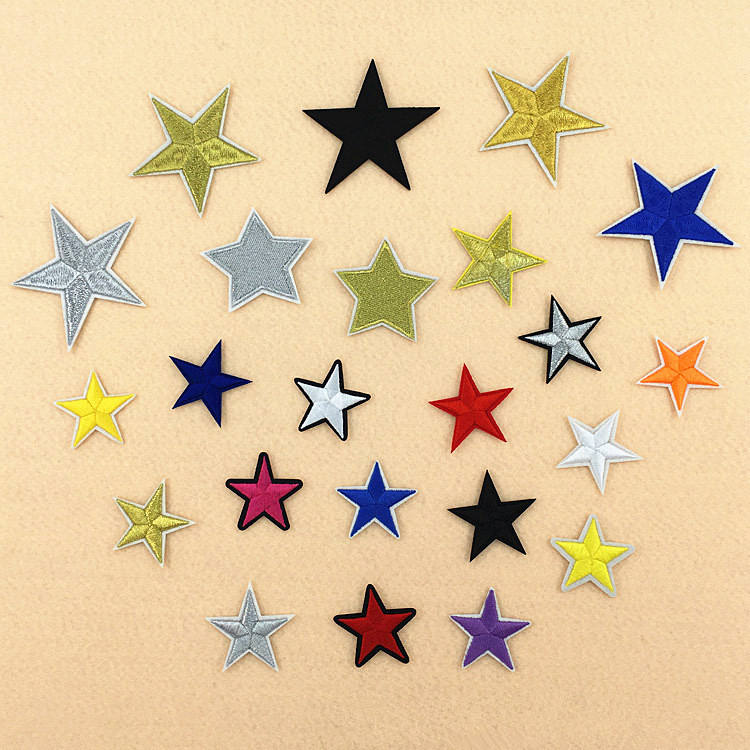 Mix Star Patch for Clothing Iron on Embroidered Sew Applique Cute Patch Fabric Badge Garment DIY Apparel Accessories P770
