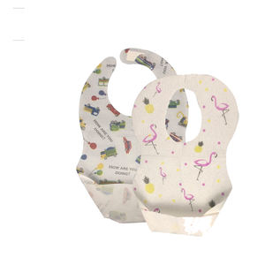 Disposable Baby Apron Bib for girl/boy OEM disposable paper baby bib