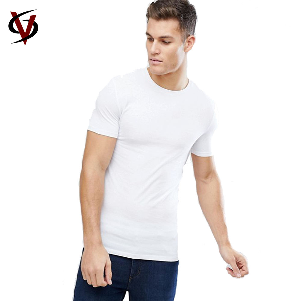 Wholesale Mens Pima Cotton Slim Fit Crew Neck Custom Printed T shirt