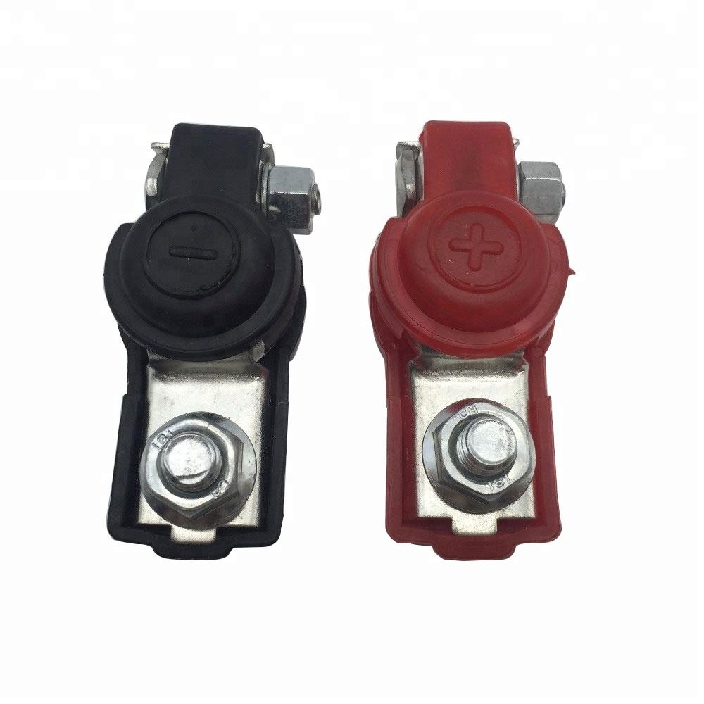 2Pcs 12V Quick release Battery terminal Clamp Connector with cover Positive &Negative