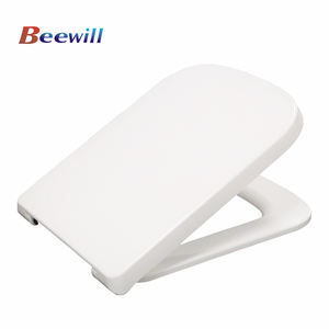 Square shape universal size soft close wc duroplast toilet seat