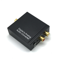 3.5mm  Optical Coaxial Digital Audio to RCA Analog Audio Output Converter analog to digital to analog conversion