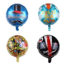 Pretty 18inch Star Shape Hot Selling Te Quiero Papa in Spanish for Father's day Aluminum Film Balloons