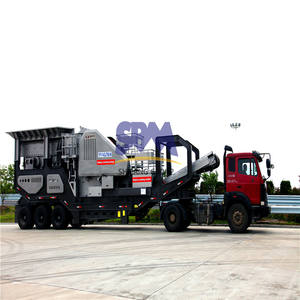 SBM Hot sale mobile crushed stone crusher line for sale