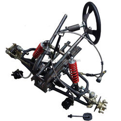 ATV GO KART KARTING DIY Motorcycle Front Axle Steering Suspension Structure Support Swingarms With Shock Absorbers Brake