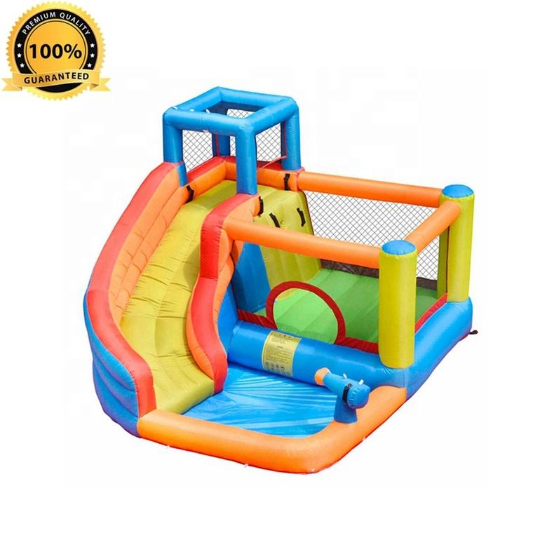 S194A Customized New Hot Top Quality Oxford Fabric Palm Tree Inflatable Water Slide Factory in China