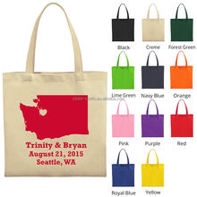 Best promotion gift for chateau tote cotton fabric canvas wine bag