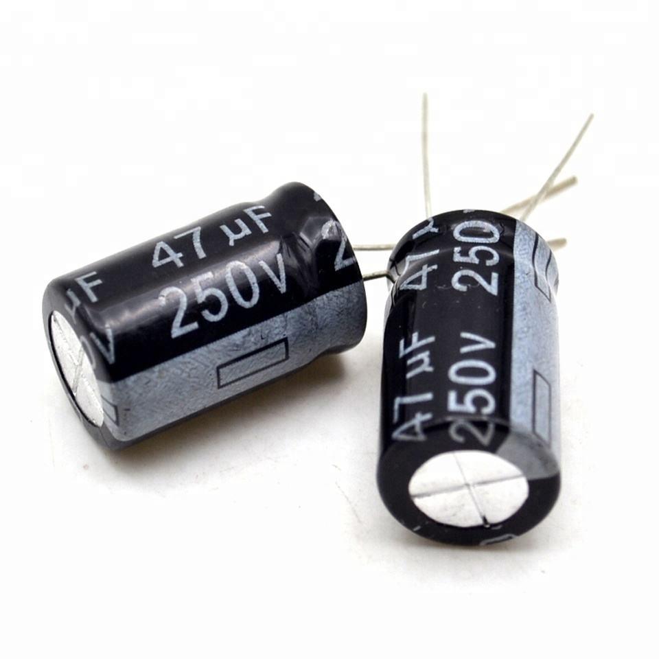 25 Aluminum Electrolytic Capacitors Leaded 47UF 160V ALUM LYTIC RADIAL