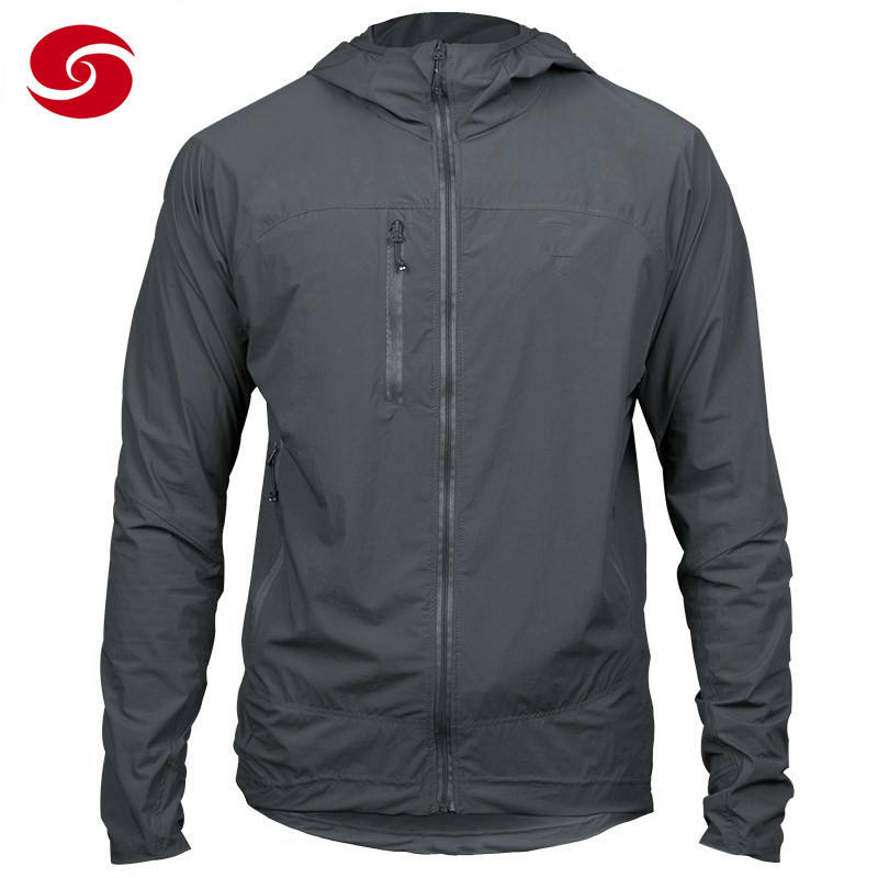 Polyester Sun Protection Clothing Mens Coat