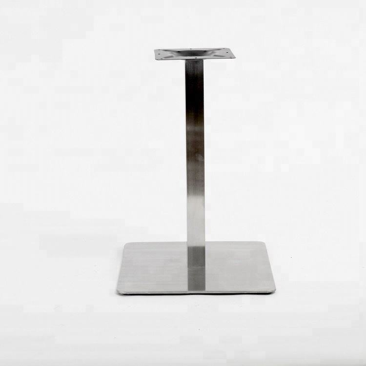 Modern Style Brushed Stainless Steel Metal Dining Single Table Bases