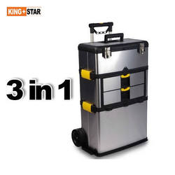 Stainless Steel Tool Box with 3 layers detachable