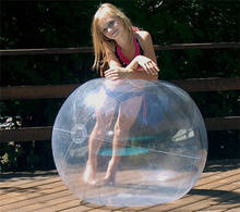Over size clear PVC outdoor inflatable big beach ball