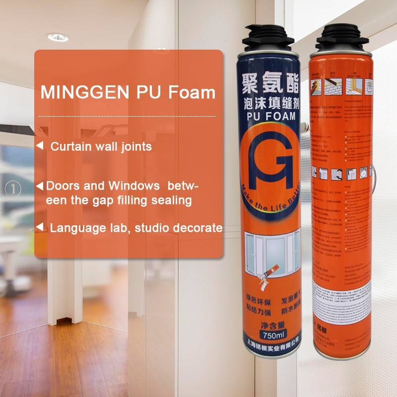 low expansion 750ml PU foam for doors and windows application with cheap price