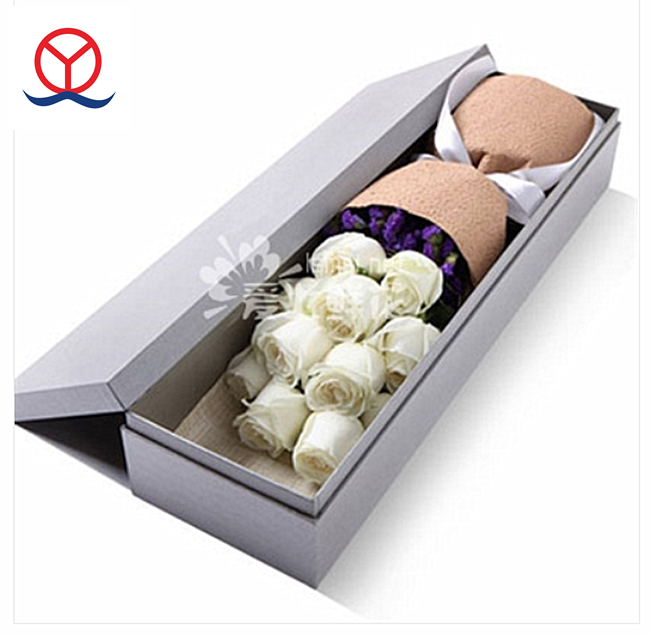 Custom printed China Rectangle flower bouquets packaging ,paper flower box luxury