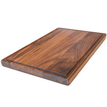 Large Walnut Wood Cutting Board Carving Countertop Block With Juice Drip Groove