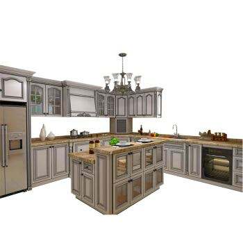 Hot Selling Kitchen Cabinet Solid Wood Kitchen cabinet