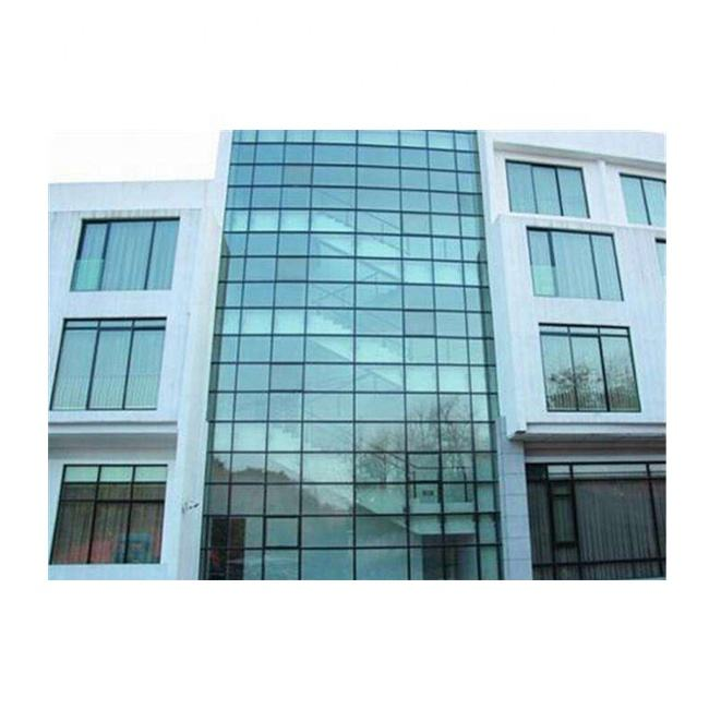 Reasonable exterior blue reflectIve glass wall prices