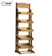 Free Design 5-Tiered Pet Dog Products Store Flooring Wooden Shelves Retail Commercial Food Display