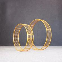 Star spring iron circular flower stand lead road wedding window display decorations