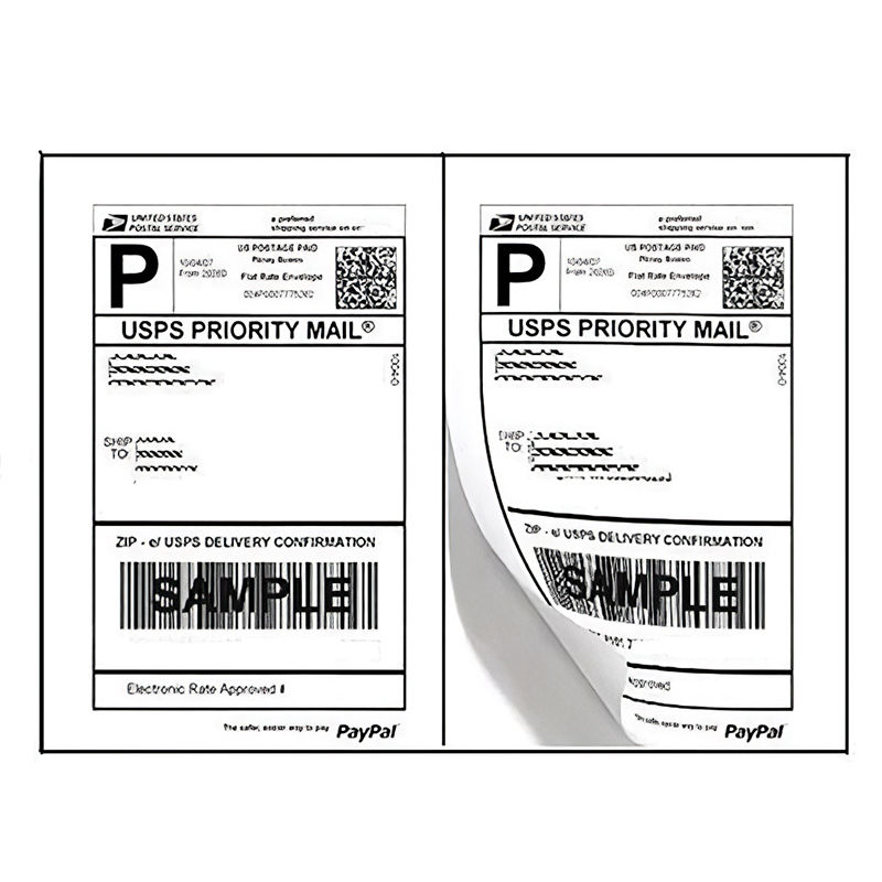 Print Maker Sticker Label Services Shipping Address White Label Sticker