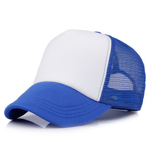Wholesale advertising 23 colors custom logo printed foam sport dad mesh hat 5 panel blank trucker cap