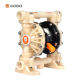 GODO QBY3-20 PVDF China Manufactural Fuel Transfer Pneumatic diaphragm Pump