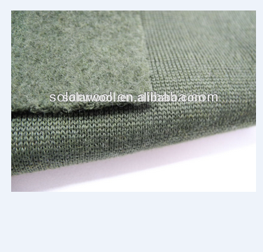 100% Merino wool 260g interlock fabric