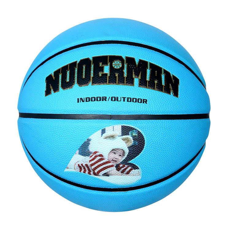 Tacto suave con buena sensación tamaño 7 baloncesto de goma de colores