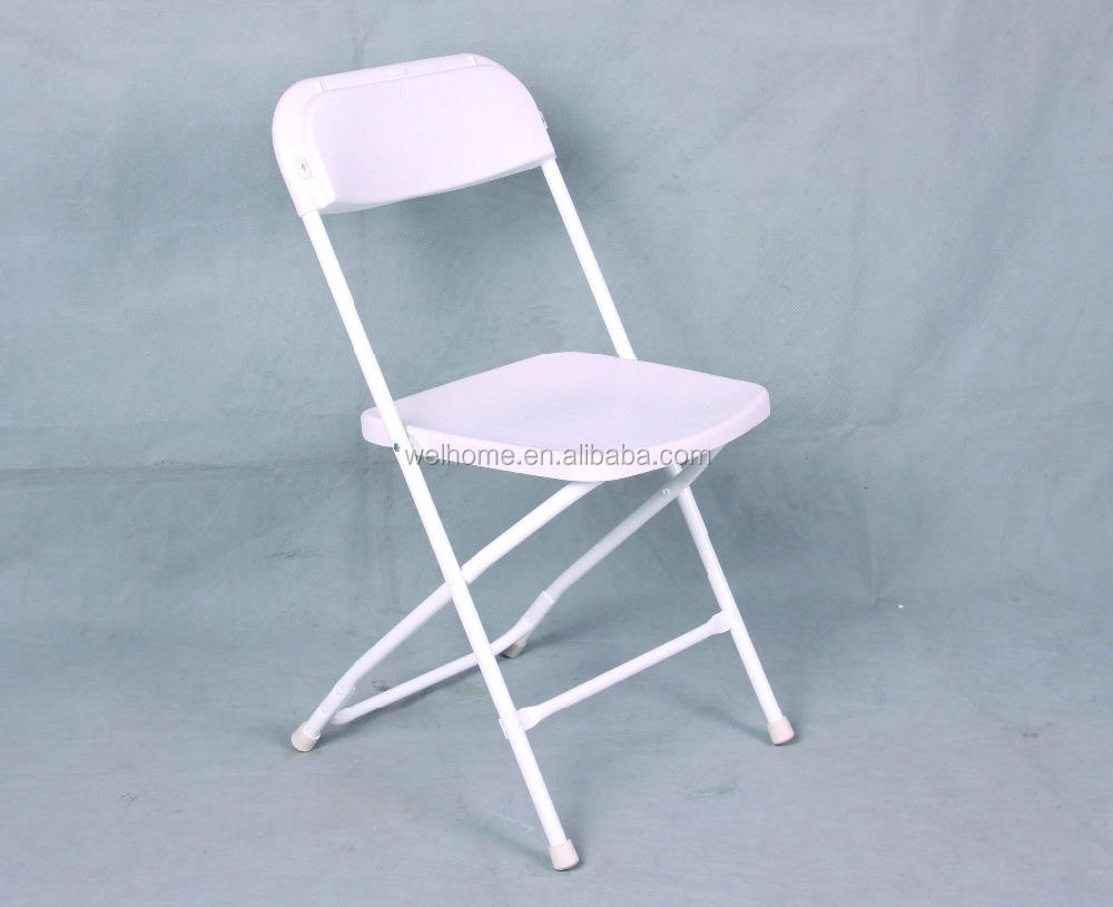 White folding plastic wedding chair