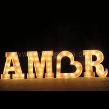 Outdoor metal led light up giant AMORE marquee letters sign for wedding party decorations