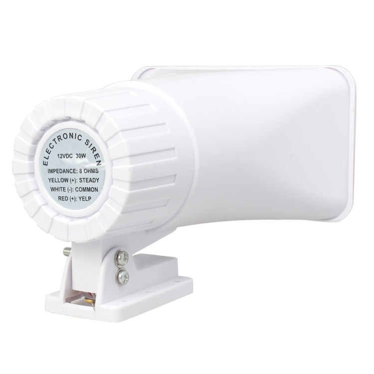 DC12V wired electronic alarm siren/ hooter, 30W super loud sound beacon with 2-tone siren