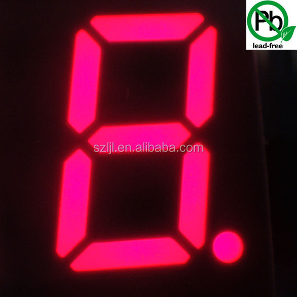 Alibaba express 4 pouces anode commune ultra lumineux rouge LED 7 segments affichage rvb