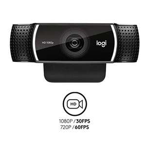 100% original wholesale price in stock Logitech C922 Webcam For android tv laptop Full 1080p HD camera