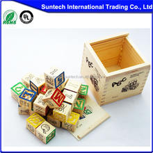 26pcs wooden letter ABC Blocks with box