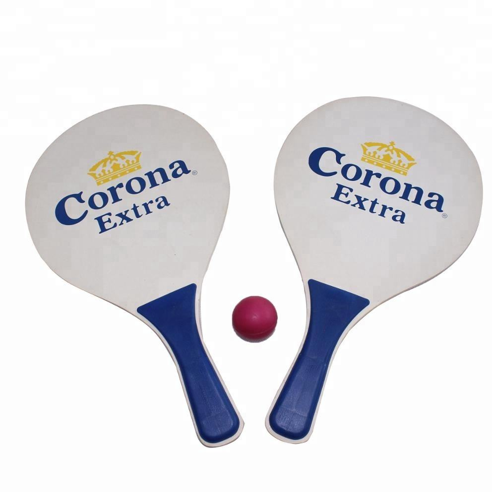 Promotie Houten Strand Tennis Paddle Bal Strand <span class=keywords><strong>Racket</strong></span>