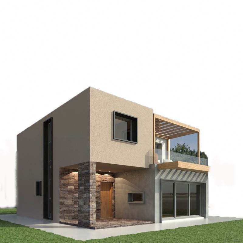 Prefabricated 3D modular house pre engineered light steel frame villa house South America
