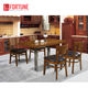 Classic italian dining room sets furniture luxury wooden design
