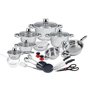 2020 kitchenware 26pcs cooking pot set stainless steel cookware