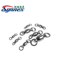 Barrel Swivel Solid Ring Strong Fishing Line Connector Fishing Hook