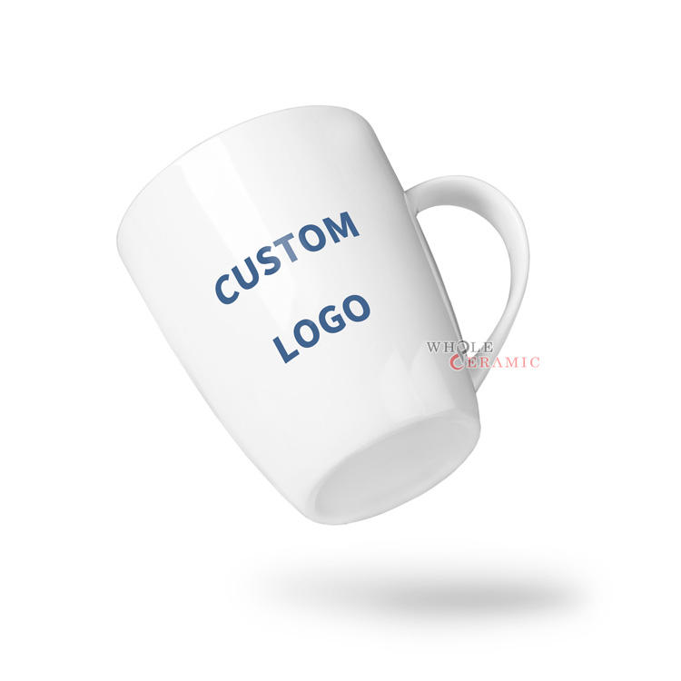 Good Quality Promotional Ceramic Mug Custom Logo Decal Print New Bone China 8oz 11oz 12oz 16oz Porcelain Coffee Mug Small MOQ